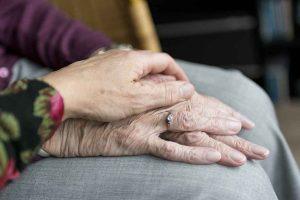 Elderly person's hand