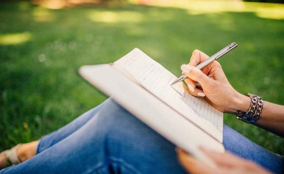 Picture of writing in a book