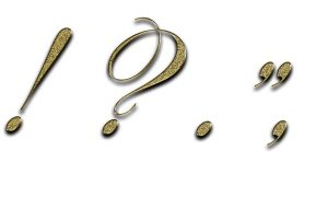 Picture of gold punctuation marks